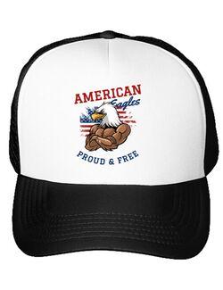 Sapca personalizata American eagles Alb