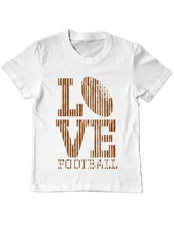 Tricou ADLER copil Love football Alb