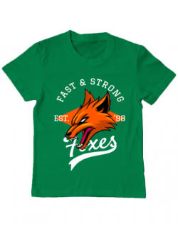Tricou ADLER copil Fast and strong Verde mediu