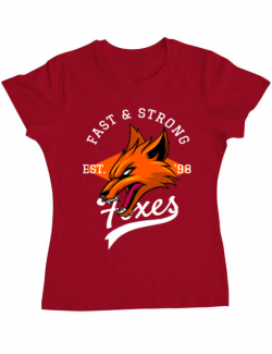Tricou ADLER dama Fast and strong Rosu
