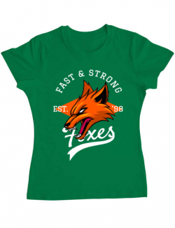 Tricou ADLER dama Fast and strong Verde mediu