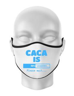 Masca personalizata reutilizabila Caca is loading Alb