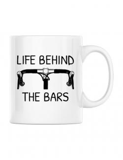 Cana personalizata Life behind the bars Alb