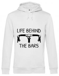 Hoodie barbat cu gluga Life behind the bars Alb