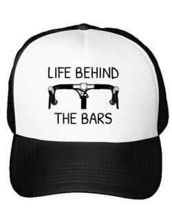 Sapca personalizata Life behind the bars Alb