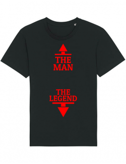 Tricou STANLEY STELLA barbat The man the legend Negru
