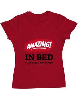 Tricou ADLER dama Amazing in bed Rosu