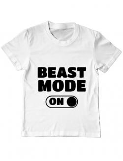 Tricou ADLER copil Beast mode Alb