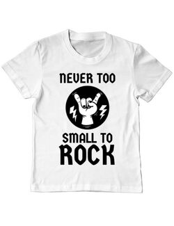 Tricou ADLER copil Never too small to rock Alb