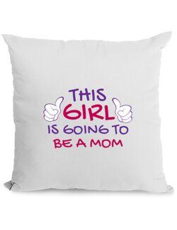 Perna personalizata Future Mom Alb