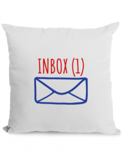 Perna personalizata Inbox Alb