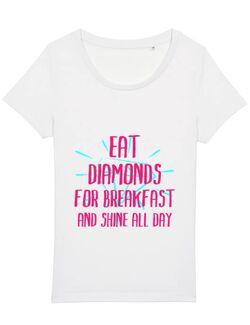 Tricou STANLEY STELLA dama Eat diamonds Alb