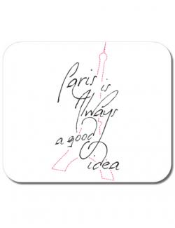 Mousepad personalizat Always paris Alb