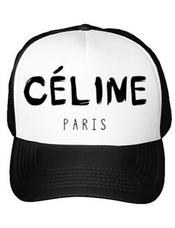 Sapca personalizata Celine paris Alb