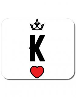 Mousepad personalizat King Alb