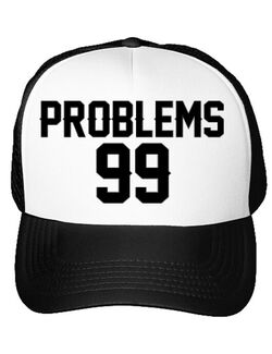 Sapca personalizata 99 Problems Alb