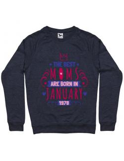 Bluza ADLER barbat The best moms January Denim inchis