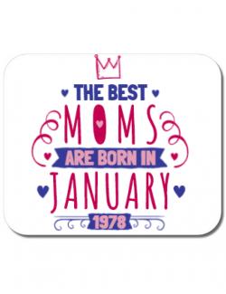Mousepad personalizat The best moms January Alb