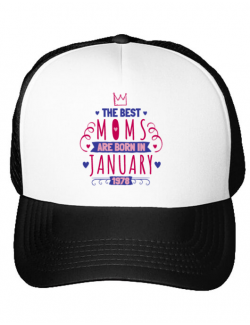 Sapca personalizata The best moms January Alb
