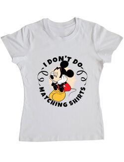Tricou ADLER dama Matching shirts Alb