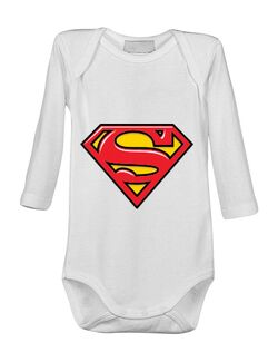 Baby body Superman Alb