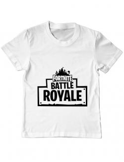 Tricou ADLER copil Battle royale 2 Alb