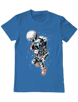 Tricou ADLER barbat Astronaut Albastru azuriu