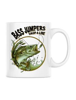 Cana personalizata Bass jumpers drop a line Alb