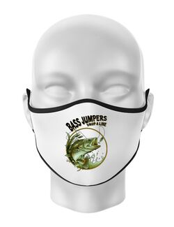 Masca personalizata reutilizabila Bass jumpers drop a line Alb