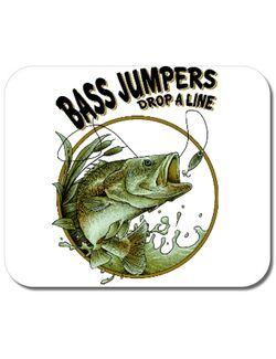 Mousepad personalizat Bass jumpers drop a line Alb