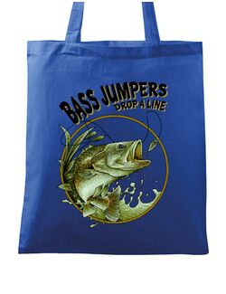 Sacosa din panza Bass jumpers drop a line Albastru regal