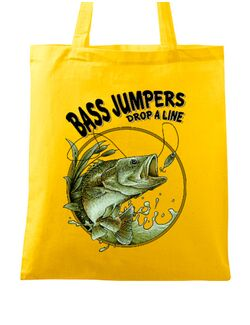 Sacosa din panza Bass jumpers drop a line Galben