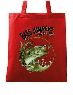 Sacosa din panza Bass jumpers drop a line Rosu