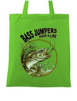 Sacosa din panza Bass jumpers drop a line Verde mar