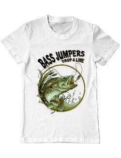 Tricou ADLER barbat Bass jumpers drop a line Alb