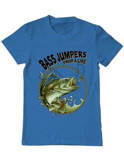 Tricou ADLER barbat Bass jumpers drop a line Albastru azuriu
