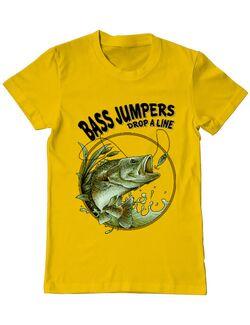Tricou ADLER barbat Bass jumpers drop a line Galben