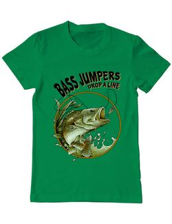 Tricou ADLER barbat Bass jumpers drop a line Verde mediu