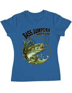 Tricou ADLER dama Bass jumpers drop a line Albastru azuriu
