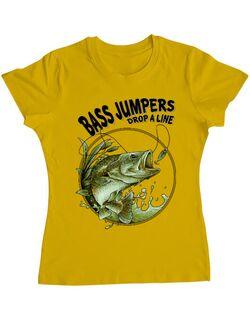 Tricou ADLER dama Bass jumpers drop a line Galben