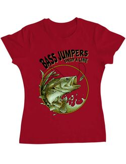 Tricou ADLER dama Bass jumpers drop a line Rosu