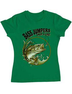 Tricou ADLER dama Bass jumpers drop a line Verde mediu