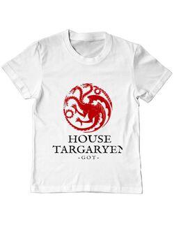 Tricou ADLER copil House Targaryen Alb