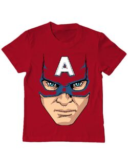 Tricou ADLER copil Captain America Mask Rosu