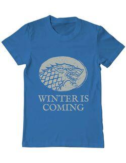 Tricou ADLER barbat Winter is coming Stark Albastru azuriu