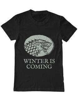 Tricou ADLER barbat Winter is coming Stark Negru