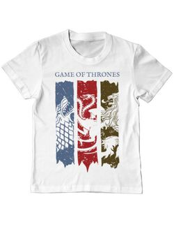 Tricou ADLER copil Game of Thrones Alb