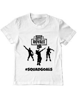 Tricou ADLER copil Squad goals Alb