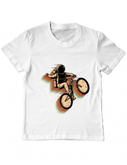 Tricou ADLER copil Cycling space Alb