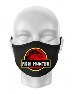 Masca personalizata reutilizabila Fish hunter Negru